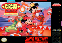 Box art for the game The Great Circus Mystery Starring Mickey & Minnie