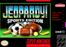Box art for the game Jeopardy! Sports Edition