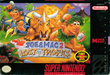 Box art for the game Joe & Mac 2: Lost in the Tropics