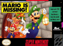 Box art for the game Mario is Missing!