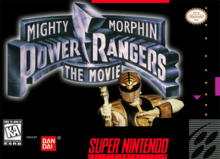 Box art for the game Mighty Morphin' Power Rangers: The Movie