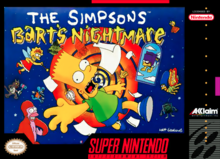Box art for the game The Simpsons: Bart's Nightmare