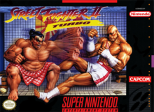 Box art for the game Street Fighter II Turbo