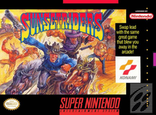 Box art for the game Sunset Riders