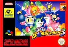 Box art for the game Super Bomberman 3
