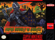 Box art for the game Super Ghouls 'N Ghosts