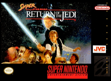 Box art for the game Super Star Wars: Return of the Jedi