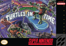 Box art for the game Teenage Mutant Ninja Turtles IV: Turtles in Time