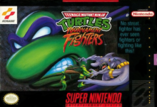 Box art for the game Teenage Mutant Ninja Turtles: Tournament Fighters