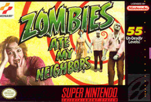 Box art for the game Zombies Ate My Neighbors