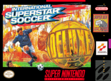 Box art for the game International Super Star Soccer Deluxe