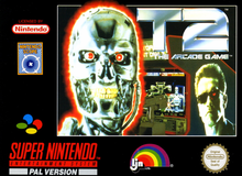 Box art for the game Terminator 2: The Arcade Game