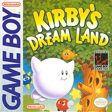 Box art for the game Kirby's Dream Land