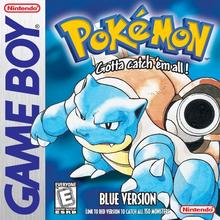 Box art for the game Pokemon Blue Version