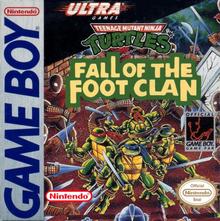 Box art for the game Teenage Mutant Ninja Turtles: Fall of the Foot Clan