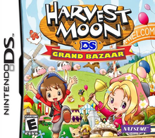 Box art for the game Harvest Moon DS: Grand Bazaar