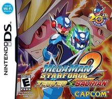 Box art for the game Mega Man Star Force 2: Zerker X Saurian