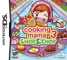 Box art for the game Cooking Mama 3 - Shop & Chop