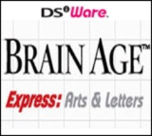 Box art for the game Brain Age Express: Arts & Letters