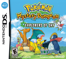Box art for the game Pokemon Mystery Dungeon: Explorers of Sky