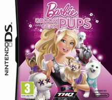 Box art for the game Barbie Groom and Glam Pups