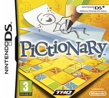 Box art for the game Pictionary