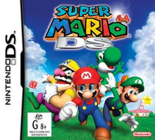 Box art for the game Super Mario 64 DS