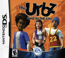 Box art for the game The Urbz: Sims in the City