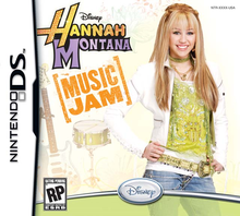 Box art for the game Hannah Montana: Music Jam