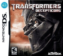 Box art for the game Transformers: Decepticons