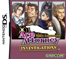 Box art for the game Ace Attorney Investigations: Miles Edgeworth