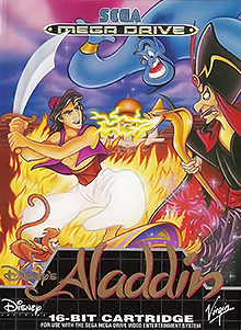 Box art for the game Aladdin