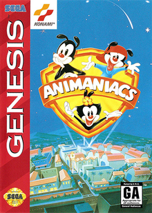 Box art for the game Animaniacs