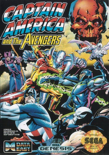 Box art for the game Captain America and the Avengers
