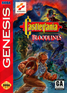 Box art for the game Castlevania: Bloodlines