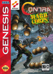 Box art for the game Contra: Hard Corps