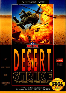 Box art for the game Desert Strike: Return to the Gulf
