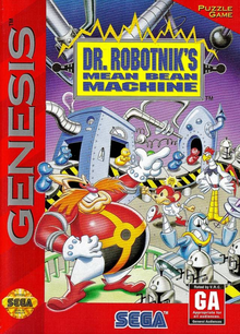 Box art for the game Dr. Robotnik's Mean Bean Machine