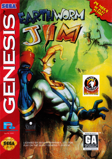 Box art for the game Earthworm Jim