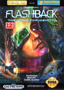 Box art for the game Flashback: The Quest for Identity