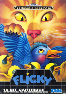 Box art for the game Flicky