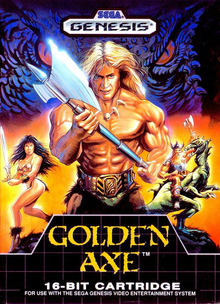 Box art for the game Golden Axe