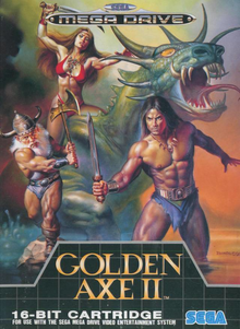 Box art for the game Golden Axe II