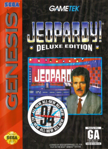 Box art for the game Jeopardy! Deluxe Edition