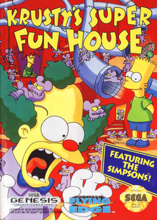 Box art for the game Krusty's Super Fun House
