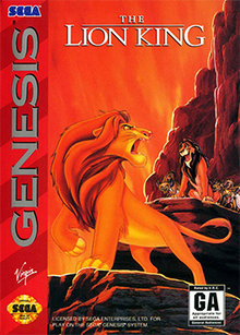 Box art for the game The Lion King
