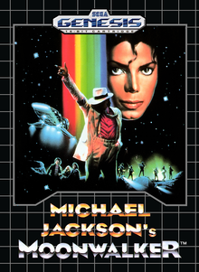 Box art for the game Michael Jackson's Moonwalker