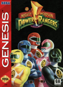 Box art for the game Mighty Morphin Power Rangers
