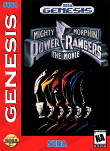 Box art for the game Mighty Morphin Power Rangers: The Movie