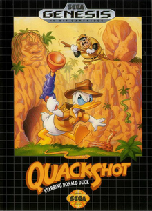 Box art for the game QuackShot Starring Donald Duck